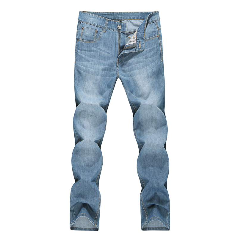 2017 summer new products men straight denim trousers slim thin long jeans pants contracted fashion man pantsОдежда и ак�е��уары<br><br><br>Aliexpress