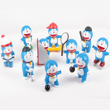 NEW HOT ! 10pcs/set 5CM Doraemon sports meet Action Figure toys Christmas gift dl05(China)