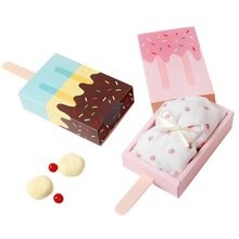 2PC Ice cream shape gift Candy boxes,kids party,favor box,Popsicle Candy Folding Paper Box Korean Cartoon Drawer Cute 5