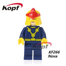 50Pcs KF266 Super Heroes Nova Mr. Inkcredible Doc Brown Marty McFly Marge Simpson Building Blocks Education Toys for children
