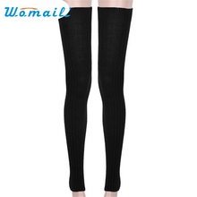 Womail Leg Warmers New Fashion Super Long Winter Warm Over Knee High Socks Skinny Stockings Aug12 Drop Shipping Womail