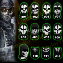 100% Original Ghost Masks Skull Balaclava Paintball Combat Army WarGame Airsoft Military Tactical Game Hats Full Face Mask(China)