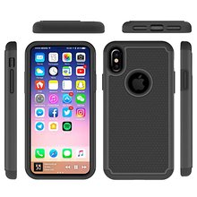 For Iphone X Shockproof Heavy Armour Hybrid Tough Football Skin Hard Plastic TPU+PC Soft Rubber Silicone Cover Cases(China)