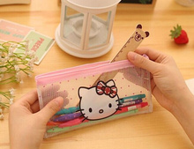 Kawaii Hello Kitty Transparent 20CM Approx. PVC Coin Purse Wallet Pouch ; Gift Kid's Coin  BAG Pouch Wallet