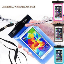 cover waterproof water proof case cell smart cover travel bag Phone dry bag for huawei iphone 5 6 cover(China)