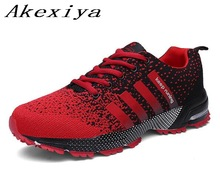 Akexiya New Running Shoes For Men Women Outdoor Breathable Mesh Fly Weave Light Jogging Sneakers Athletics Lovers Sport Shoes(China)
