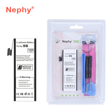 For iPhone 5 5G Battery 2017 Original Nephy Replacement Bateria Real Capacity 1440mAh For iPhone5 Phone Batteries With Tools Kit(China)