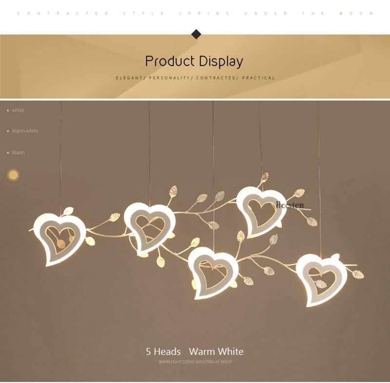 Romantic Love Heart LED Pendant Lights (9)