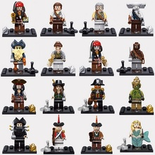 Single Sale Pirates of the caribbean Jack Sparrow Elizabeth Mermaid Figures Model Building Block Toys Figures Christmas Gift