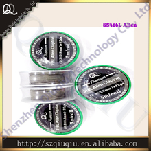 Electrical heating 5m/roll 316L Alien Clapton wire 0.3*0.8+32ga for electronic cigarette RDA wire,Free shipping