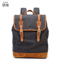 XI YUAN BRAND men's backpacks backpack style fashion casual canvas back pack school bags for male travel trip book bag boy gift