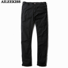 2017 Men Balck Casual Man Long Pants 100%Cotton Straight Loose Male Full Trousers Summer Homme Hip Hop Working Pants Long XT348