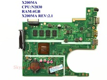 For ASUS X200MA X200MA Laptop Motherboard CPU:N2830 RAM:4GB X200MA REV:2.1 100% Good Qulity