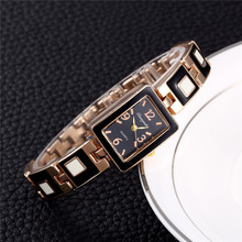 Top Brand Woman Watches Fashion Ladies Baby Clock Black Ceramics Gold Luxury Women Watch montre femme(China)