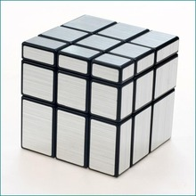 3x3x3 Magic Cube Puzzle Gold Silver White Black Mirror Cubes Wire Drawing Style Cast Coated Special Toy Gift For Educational(China)