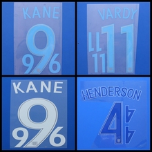 New England STERLING HENDERSON VARDY KANE ROONEY football number name font print,Hot stamping Soccer patches badges(China)