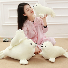 30-60cm New Style Sea Lion Stuffed Plush Toys White Sea lion cloth doll animals stuffed plush doll birthday gift for children(China)