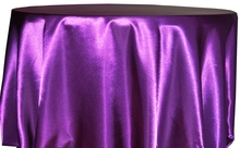 Free Shipping 10pcs Cheap Purple 70''/90''/108''/120''/132'' Round Satin Table Cloth Banquet Table Cover Wedding Table Linens(China)