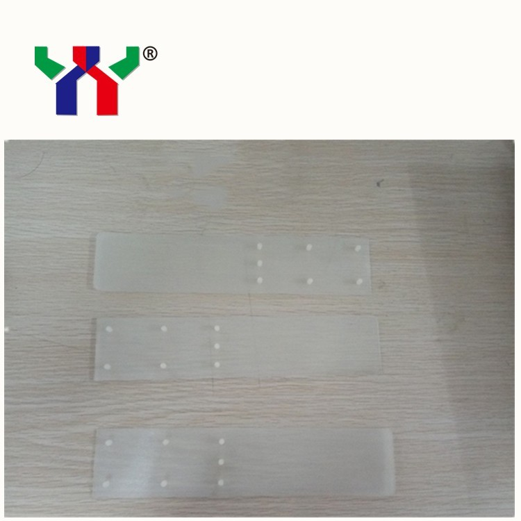 Plastic Sheet for Roland 700 Offset Printing Machine,229*50mm(7 dots on it),20 pcs/bag