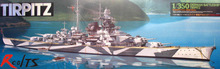 RealTS Tamiya 1/350 78015 Tirpitz German Battleship Model Kit