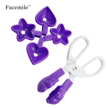 Cooking tool heart-shaped Mold Cookie Cutter Clip flower shaped star shaped Gigt Chocolate Baking Lolly Pop Lollipop Mould 51101
