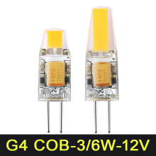 Mini G4 LED Bulb COB SMD 3W 6W AC DC 12V LED Lamp Dimmable 360 Beam Angle Chandelier Lights Replace Halogen Lamps(China)