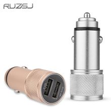 RUZSJ Car Charger Dual USB 5V/ QC3.0 Quick Charge Metal Apply to Android IOS System Mobile Phones Tablet PC DC 12-24V USB Type-C