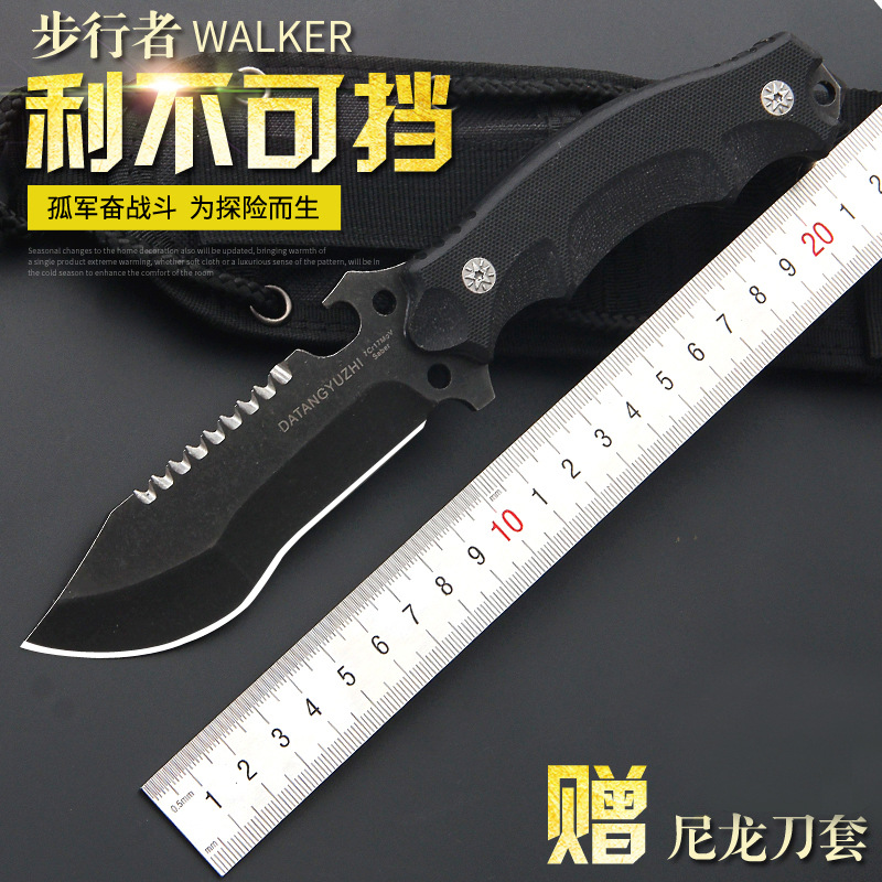 High quality army Survival knife high hardness wilderness knives essential self-defense Camping Knife Hunting outdoor tools EDC<br>