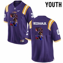 2016 Nike Youth LSU Tigers Odell Beckham Jr. 3 College Jersey Ice Hockey Jerseys 3 colors S M L XL(China)
