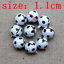 100pcs/lot  diy small lovely World Cup soccer ball new design 21*18MM Children dance the bell / Pet bell free shipping 011003019