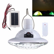22 LED Solar Light Outdoor Garden Light Solar Powered Yard Hiking Tent Camping Hanging Lamp With Remote Control Pure White(China)