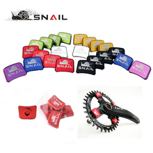4pcs/set SNAIL 7075 Aluminum Bike Chain Wheel Nails Ultralight MTB Road Bicycle BMX Crank Plate Screws Crankset Nut(China)