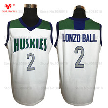 Top Chino Hills Huskies High School #2 Lonzo Ball Jersey Throwback Basketball Jersey Vintage Retro Basket Shirt For Men Stitched(China)