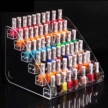 New Fashion Promotion Makeup Cosmetic 6 Tiers Clear Acrylic Organizer Mac Lipstick Jewelry Display Stand Holder Nail Polish Rack(China)