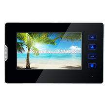 "black fashion 7"" Monitor color Touch  screen Video Door Phone Doorbell Intercom System indoor monitor set"