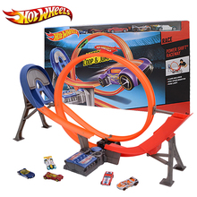 Hot Wheels Electric Car Track Plastic Matal Railway Vehicles Kid Toy brinquedo Educativo Hotwheels Track Classic Y3105 For Gift(China)