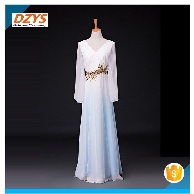 Women\`s new elegant modern dance costume sleeves dance dress05