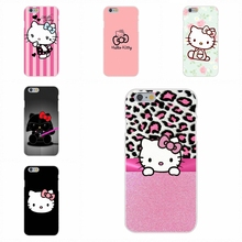 Cute Hello Kitty Minnie Cartoon Cat Slim Silicone Case For iPhone 4 4S 5 5S 5C SE 6 6S 7 Plus Galaxy Grand Core Prime Alpha(China)