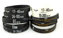 100pcs/lot 2014 new 50mm 24-70mm 70-200mm Camera lens bracelets bangle silicon wristband photographer gifts souveirs BR053(China)