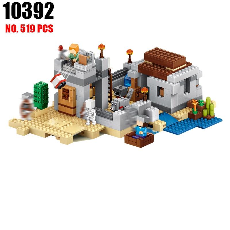 BELA 10392 Minecrafted The Desert Outpost Building Blocks Bricks enlighten toys for children birthday gift compatible 21121<br>