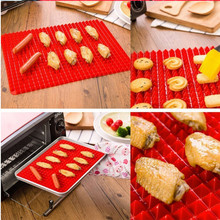 TENSKE 2017 new pyramid plate Non-stick fat reduction silicone cooking mat oven grill plate home barbecue barbecue tools *30