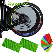 Auto car stickers 16 Strips vehicle Wheel Reflective Motorcycle car styling Sticker personality auto accessories Au 24(China)
