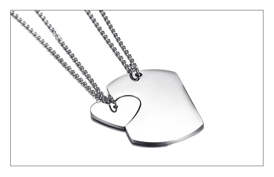 Meaeguet Personalized Stainless Steel Couple Heart ID Necklace Pendant Wedding Jewelry For Women Men Free Laser Engrave Collar (7)