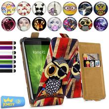 Universal Cases For Gigabyte GSmart Roma R2 4'',Flora printed wallet Leather Skin Flip Cover Stand Phone Case with gift