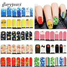 10 Pieces/lot Colored Nail Patch Dandelion Article Waterproof Full Cover Gel Polish French Manicures Art Fingernails Makeup Tool