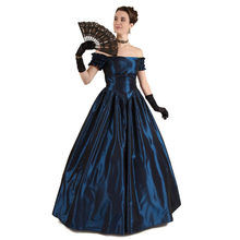 19th Century Renaissance Victorian Off-Shoulder Ball Gown Vampire  Halloween Southern Belle Costume Historical 0d8f693c5d8e