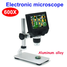 Video Microscope Magnifier Metal-Stand Phone-Repair 600X Electronic LCD HD Digital