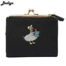 Litchi Pattern Ladies Small Card Holder Coin Purse Korean Style Cute Women Wallets PU Leather Soft Purse For Woman