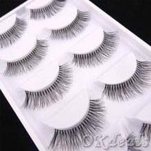 New 5Pairs Natural Sparse Cross Eye Lashes Extension Makeup Long False Eyelashes(China)