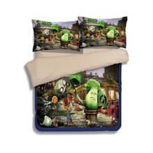 Cartoon Plants vs. Zombies print 3d bedding sets children kids 3/4pcs twin full queen king size anime duvet cover pillowcase(China)